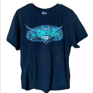 Vintage Race Car Graphic T Shirt Size Large